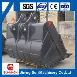 Cubeta de carvão do carregador 7cbm da roda da lagarta Cat972