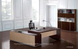 Walnut Color MDF Wooden Boss Executive Office Table (HF-SI0169)
