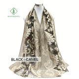 Hot Sale Lady Fashion Soie écharpe tissée avec fleur de coupe