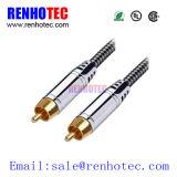 Stecker 2RCA dem Kabel zu des Stecker-2RCA (RCA-Kabel)
