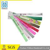 Artículos promocionales 1 pulgada impresa de código de barras de papel Tyvek Wristbands
