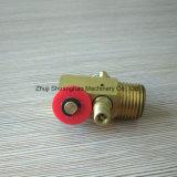 Llave de drenaje de cobre amarillo de la válvula de la válvula del desbloquear del aire mini