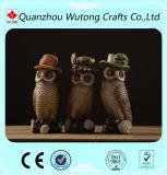 Novo Design de resina Decoração personalizada Owl pequenas figuras