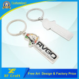 Il prezzo di fabbrica ha personalizzato la catena chiave del metallo in lega di zinco con tutto il disegno di marchio per la promozione/ricordo