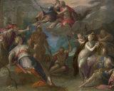 Картина искусствоа шипучки картины маслом вися стены конструкции Antique типа Европ для домашней картины маслом украшения (модельного нет: Hx-4-001)