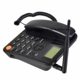 デスクトップの電話2/3G無線電話単一か二重SIM GSM FwpはFMのラジオをサポートする