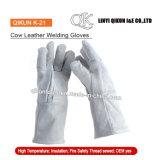 Перчатки заварки коровы безопасности серого цвета K-20 работая Split кожаный