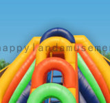 Het opblaasbare Kleurrijke Spel van de Dia van het Water van 4 Stegen in de Zomer