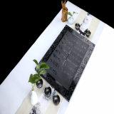 Design bonito bandeja de chá em granito preto puro como acessórios de chá