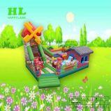 Het Springen van de windmolen Kasteel van de Dia van Funcity Bouncy van het Huis het Opblaasbare voor Jonge geitjes