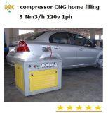250 bar Casa compresor de reabastecimiento de combustible GNC