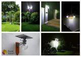 Da rua Home solar do jardim do diodo emissor de luz iluminação moderna psta solar