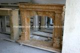 La pierre naturelle cheminée en marbre de style simple (sy-MF230)