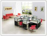 Compartiment 2 Seater de mur élevé de poste de travail en bois de bureau des meubles petit (HF-YZV066)
