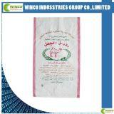 Sac/sac tissés par pp blancs pour le riz/farine/nourriture/blé 40kg/50kg/100kg, sac tissé par polypropylène
