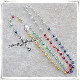 Rosaire, rosaires, religieux Rosaire, Rosaire en bois, verre Rosaire, cadeau de promotion (IO-CR000)