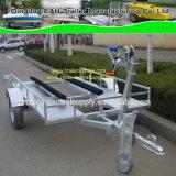 A fábrica fêz o serviço público galvanizou o carro de golfe de 2.5X1.5m e o reboque do esqui do jato (GCT010AB)