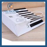 Saco de mão cosmético de impressão de listra preta (DM-GPBB-055)