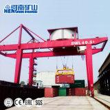 U дважды подкрановая балка контейнера во дворе опоры крана 50 тонн