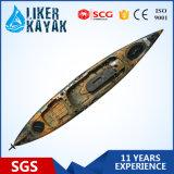 De Kajak van de visser met LuxeSeat&Trolley van Zand/de Zwarte Kajak van de Visserij van de Kleur