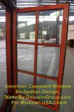 Guichet en bois en aluminium normal de tissu pour rideaux de New York Etats-Unis