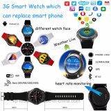 Telefone Móvel 3G relógio de pulso com monitor de ritmo cardíaco