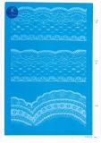 Rendas elásticas não para vestuário/capa/sapatos/saco/Processo F2072 (largura: 1.4CMM para 24cm)