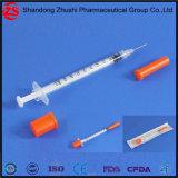 조정 바늘 0.05-1ml를 가진 처분할 수 있는 인슐린 주사통