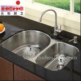 Cupc a identifié le double bassin de cuisine égal d'acier inoxydable de cuvette (9852)