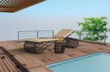 現代屋外の柳細工の藤の家具の日曜日のLounger浜のChaiseのLounger (YTF608)