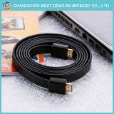 이더네트 오디오 반환을%s 가진 고속 18gbps 땋는 코드 2.0 HDMI 케이블 6FT