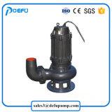 Pompa sommersa della smerigliatrice dei residui di alta efficienza con la ventola di taglio