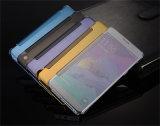 Spiegel-Oberflächengoldharter Überzug PC Kippen-Leder-Kasten für Rand der Samsung-Galaxie-S7