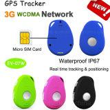 3G el rastreador GPS portátil resistente al agua para uso personal/niño/adulto con Multifunctions EV-07W.