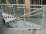 Escaleras de Aluminio, Balaustres de Vidrio y de Vidrio, Barandilla de Escalera