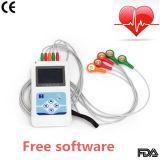 registratore di 3-Channel ECG Holter fino a 24 ore che registrano con Software-Stella libera