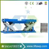 Hydraulische örtlich festgelegte Rolle der Eingabe-1000kg Scissor Aufzug-Tische