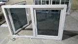 두 배 오프닝 고품질 방충망을%s 가진 외부적인 창유리 UPVC 여닫이 창 Windows