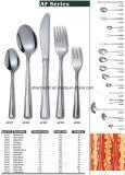 Silver 84PCS Conjunto de talheres de aço inoxidável