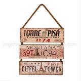 Plaque en bois Panneaux en bois Billboard Souvenir Décoration intérieure
