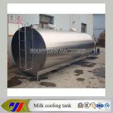Tanque horizontal refrigerar de leite do aço inoxidável