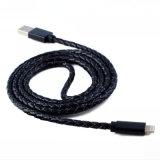 Быстрый поручая кожаный Braided кабель USB для Samsung и iPhone