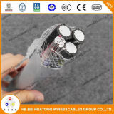 Type résistant UV câble d'enfouissement direct en aluminium de conducteur de norme de l'UL 44 de certificat d'UL de Se/Seu/Ser