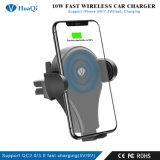 Самый дешевый ци быстрый беспроводной телефон Автомобильный держатель для зарядки/порт/блока питания/станции/Зарядное устройство для iPhone/Samsung (Android)