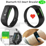 Браслет Bluetooth франтовской с экраном OLED и монитором тарифа сердца (V6)