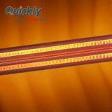 Tubo de Cuarzo lámparas calentador de infrarrojos para recubrimiento de polvo