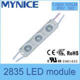 1.08W SMD 2835 LEDの表記ライトレンズが付いている防水注入のモジュール