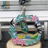 Médaille en alliage de zinc d'enjeu de judo gravée par bronze fait sur commande d'approvisionnement