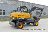 La construcción de 8 tonelada de Agricultura de la máquina excavadora de ruedas