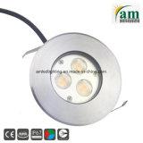 IP67 9W à LED pour éclairage encastré en vertu de la masse de l'éclairage de pont
